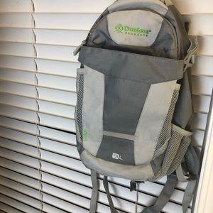 Gray hiking backpack